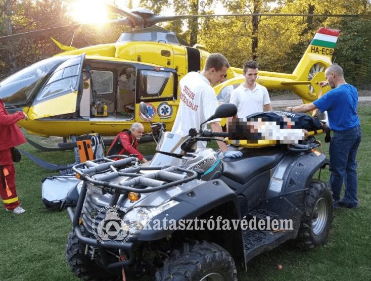 Quaddal mentettek túrázót a szabadszentkirályi önkéntes tűzoltók